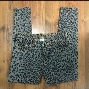 Dollhouse Leopard Print Jeans- SZ 11